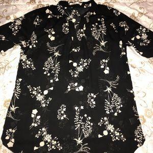 Womens Flower Print Blouse